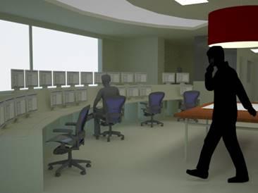 Les Awirs- Aménagement salle de contrôle